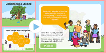 Understanding Equality  PowerPoint - diversity, fairness, PSHE, human rights, discrimination