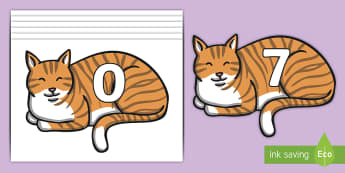 Numbers 0-31 on Cats - 0-31, foundation stage numeracy, Number recognition, Number flashcards, counting, number frieze, Display numbers, number posters