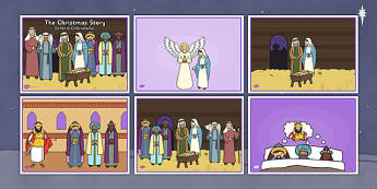 The Christmas Story sequencing Romanian Translation - ordering, festive, retelling, english, speaking and listening, early years, ks1, ks2,