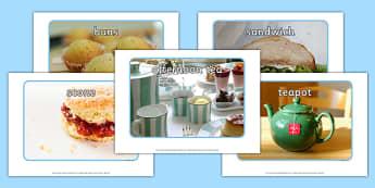 Afternoon Tea Display Photos - afternoon tea, display photos, display, photos