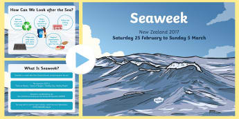 Seaweek 2017 PowerPoint - Sea Week, Conservation, Environmental Studies, Class discussions, oceans, water conservation, water,