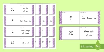 3 and 4 Times Tables Loop Cards - multiplication, loop cards, 3 times tables, 4 times tables