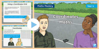 Year 4 Coordinates Maths Mastery PowerPoint - Reasoning, Greater Depth, Abstract, Problem Solving, Explanation,