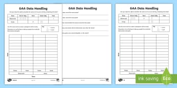 GAA Score Card Pictogram Differentiated Activity Sheet - GAA, Ireland, Score Card, Pictogram, Differentiated, Worksheet
