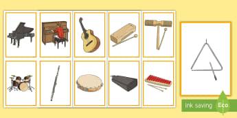 Cardiau Cyfatebu Offerynnau Cerddorol (Lluniau yn unig) Cardiau Cyfatebu - offerynnau, instruments, cerdd, music, cardiau,,Welsh