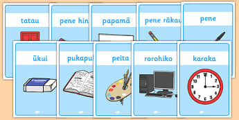 Classroom Equipment Labels Te Reo Maori - nz, new zealand, classroom, equipment, labels, Te Reo Maori, class