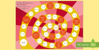 Kleines Einmaleins 7er Reihe Brettspiel - Mathematik: Zahlen ,German, einmaleins, brettspiel
