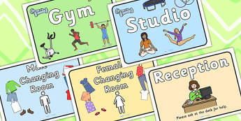 Gym Role Play Signs - roleplay, props, sport, pe, health, fitness