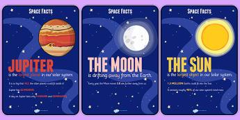 Space Facts Posters - space, facts, posters, science, display
