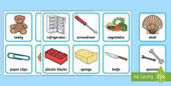 Magnetism Object Sorting Cards - Magnet, magnets, magnetic, word card, card, flashcards, sorting, non-magnetic, north, south, poles, forces, movement, science, knowledge and understanding of the world