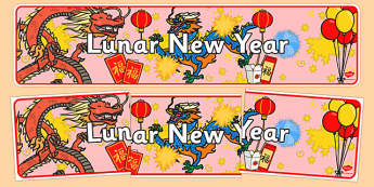 Lunar New Year Display Banner - new year, display banner, display, banner, lunar, lunar new year