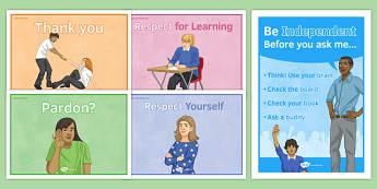 Behaviour Display Posters