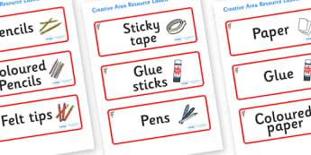 Koala Themed Editable Creative Area Resource Labels - Themed creative resource labels, Label template, Resource Label, Name Labels, Editable Labels, Drawer Labels, KS1 Labels, Foundation Labels, Foundation Stage Labels