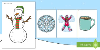 Winter Lacing Cards - winter, winter lacing cards, seasons, snow, snowman, cold, lacing cards