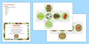 In and Out the Box  Early Concept Busy Bag Prompt Card and Resource Pack - Early Concepts, In, Out, Filling And Emptying, baby, schema