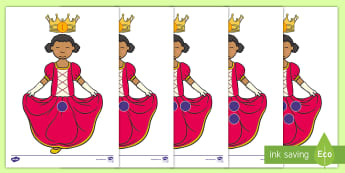 Princess Number Matching Activity - Center Activity, Number Recognition, Individual Math Activity, Counting Skills, Matching Skills