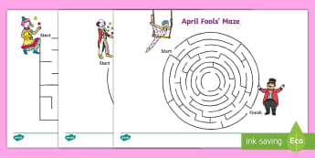 April Fools' Day (Joke) Maze Activity - EYFS/KS1 April Fool's Day (1st April), jokes, april fools, fake