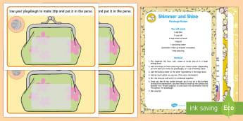 Money Playdough Recipe and Mat Pack - coins, purse, playdough mats, mettalic playdough, shimmering playdough, sparklng playdough, early ma