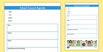 School Council Meeting Agenda Template - school council, meeting, agenda, template