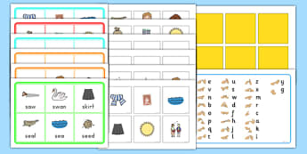 Initial s Sound Bingo and Lotto Game - australia, activities, letters, phonics, english, speaking, filler, small group, whole class, phase 1, early years, ks1, key stage 1