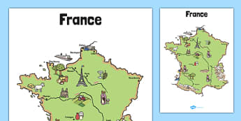 Display Map of France - display, map, france, french, cities, country