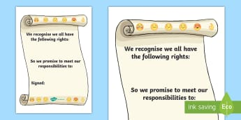 Our Class Charter Emoji Themed for SEAL Writing Template - Our, Class, Charter, Emoji, Themed, for, SEAL, Writing, Template, Classroom, Management, Behaviour,