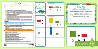 EYFS Add One More Building Brick Busy Bag Plan and Resource Pack - addition, Number, maths, Mathematics, adding, lego, duplo, mega blocks, megablocs, mega Blocs,