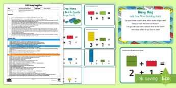 EYFS Add One More Building Brick Busy Bag Plan and Resource Pack - addition, Number, maths, Mathematics, adding, lego, duplo, mega blocks, megablocs, mega Blocs,