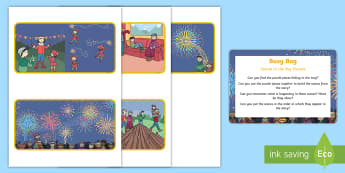Sparks in the Sky Puzzles Sensory Busy Bag Prompt Card and Resource Pack - fireworks, bonfire night, guy fawkes, november, senses, jigsaw, rice, find, twinkl fiction, twinkl o