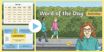 Year 6 Word of the Day Spring 1 PowerPoint - Writing, Creative, Sats, Sentence, Grammar, Vocabulary, Spelling, speech, language