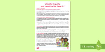 What Is Empathy and How Can We Show It Guide - feelings, friendship, relationships, young people, emotions, expression