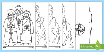 Epiphany Colouring Pages - Key Stage One, KS1, Mindfulness Colouring, Fun, Activity, Three Wise Men, Star, Bible Story, Beliefs