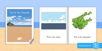 This Is the Beach Emergent Reader eBook - Beach, Sea, Ocean, Beach Habitat, Emergent Reader, Ebook, Beach Emergent Reader, Ocean Emergent read