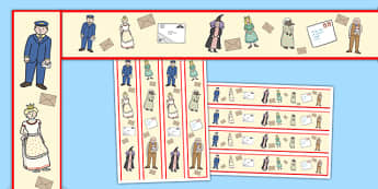 Display Border to Support Teaching on The Jolly Postman - jolly postman, display border