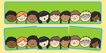 Editable Banner Childrens Faces - editable, editable banner, childrens faces, display, banner, display banner, display header, themed banner, editable header