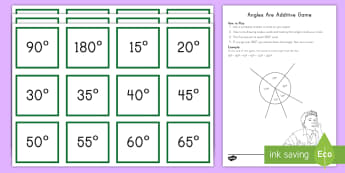 Angles Are Additive Angle Drawing  Game - angles, additive angles, drawing angles, protractor, straight, right, acute, obtuse