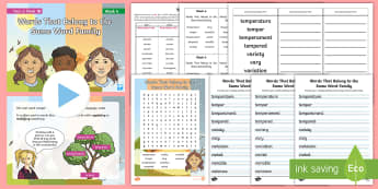 Year 6 Term 1B Week 4  Spelling Pack - Spelling Lists, Word Lists, Autumn Term, List Pack, SPaG