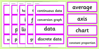Year 6 2014 National Curriculum Data and Statistics Vocabulary Cards - data