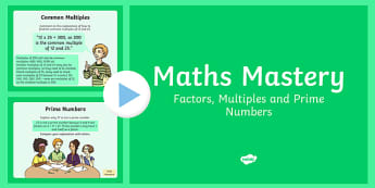 Year 6 Calculation Factors Multiples Prime Numbers Maths Mastery Activities, hcf, highest common factor, HCF