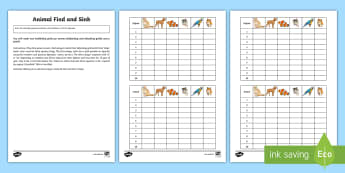 Animals Find and Sink Board Game Spanish - Spanish, Vocabulary, KS2, battleship, board, game, numbers, pets, animals, revision