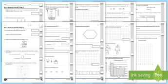 Year 4 Maths Reasoning Test Set 3 Assessment Pack - KS2, termly test, Paper A, Paper B, missing digits