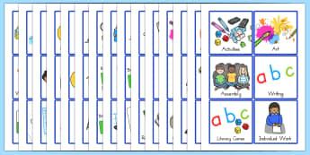 KS1 Visual Timetable - ks1, timetable, visual timetable, display