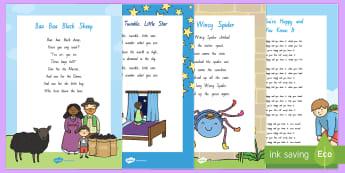 Nursery  Songs and Rhymes Resource Pack - Te Reo Maori - NZ Literacy Resources, nursery rhymes, Years 1-3, New Zealand, Aotearoa, Te Reo, Maori, poems, Engli