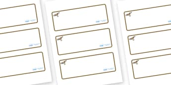 Red Kite Themed Editable Drawer-Peg-Name Labels (Blank) - Themed Classroom Label Templates, Resource Labels, Name Labels, Editable Labels, Drawer Labels, Coat Peg Labels, Peg Label, KS1 Labels, Foundation Labels, Foundation Stage Labels, Teaching Lab