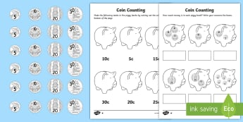 New Zealand How Much Money is in My Piggy Bank Differentiated Worksheet / Activity Sheets  - How Much Money is in My Piggy Bank Differentiated Worksheets, new zealand, NZ, new zeland, money, co