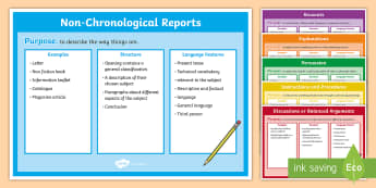Features of Non-Fiction Texts Pack - non fiction texts, features of non fiction texts, non-fiction texts posters, non-chonological reports, recounts