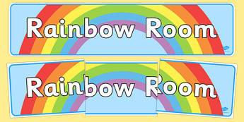 Rainbow Room Display Banner - rainbow room, display banner, display, banner, rainbow, room