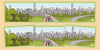 Human Geography Display Banner - human geography, display banner, display, banner