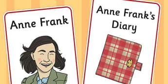 Anne Frank Display Poster - anne, frank, display poster, display