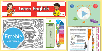 Free English and Arabic Taster Resource Pack - freebie, sample, tester, test, taste, bumper, try